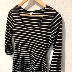 Old Navy - Striped Black and White Dress